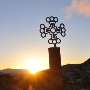 sunrise service with cross
