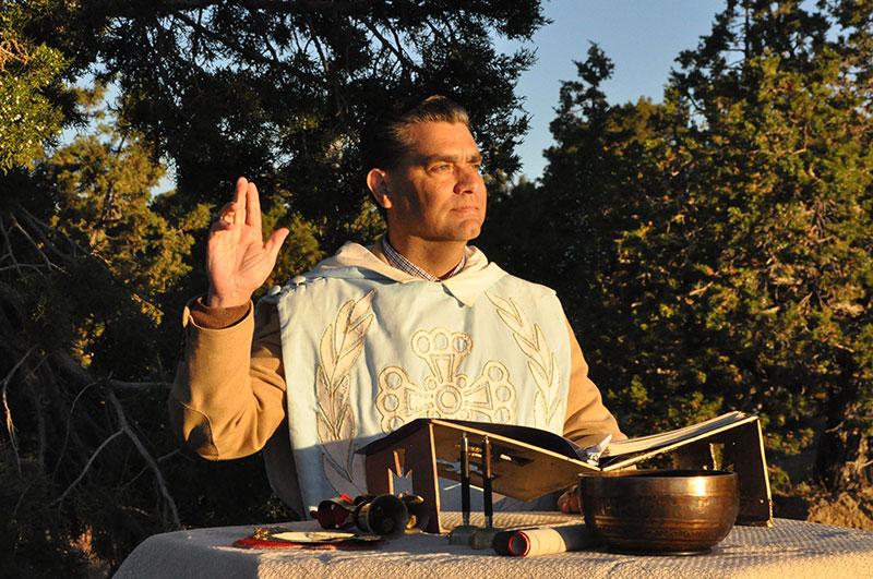 gene preaching outside